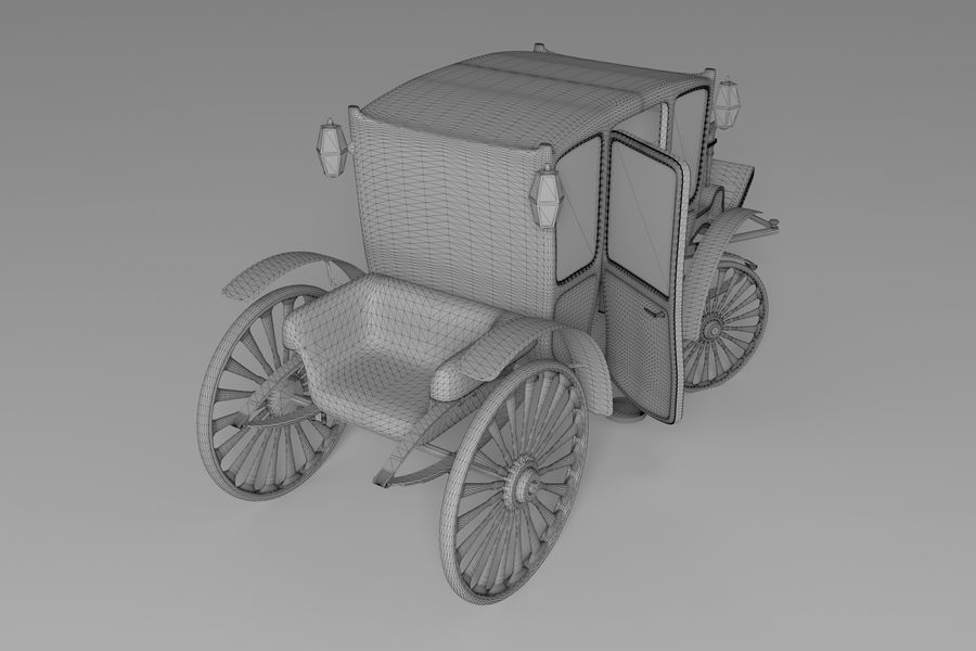 Voiture de luxe vintage royalty-free 3d model - Preview no. 17