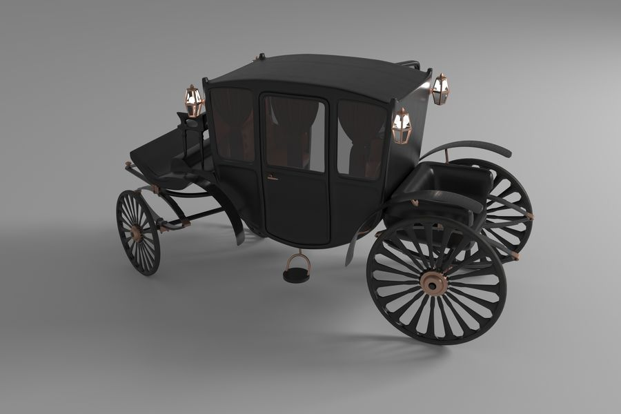 Voiture de luxe vintage royalty-free 3d model - Preview no. 2