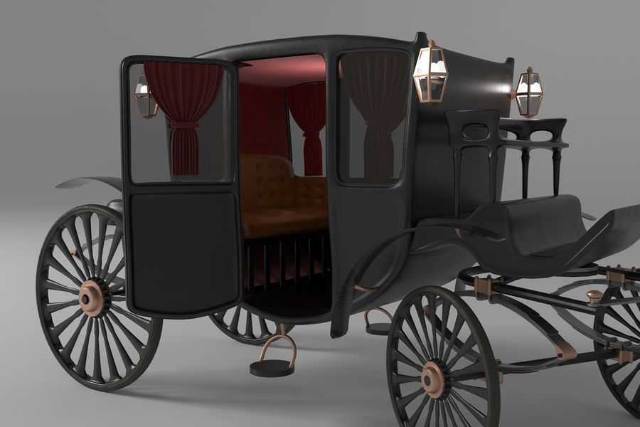 Voiture de luxe vintage royalty-free 3d model - Preview no. 9