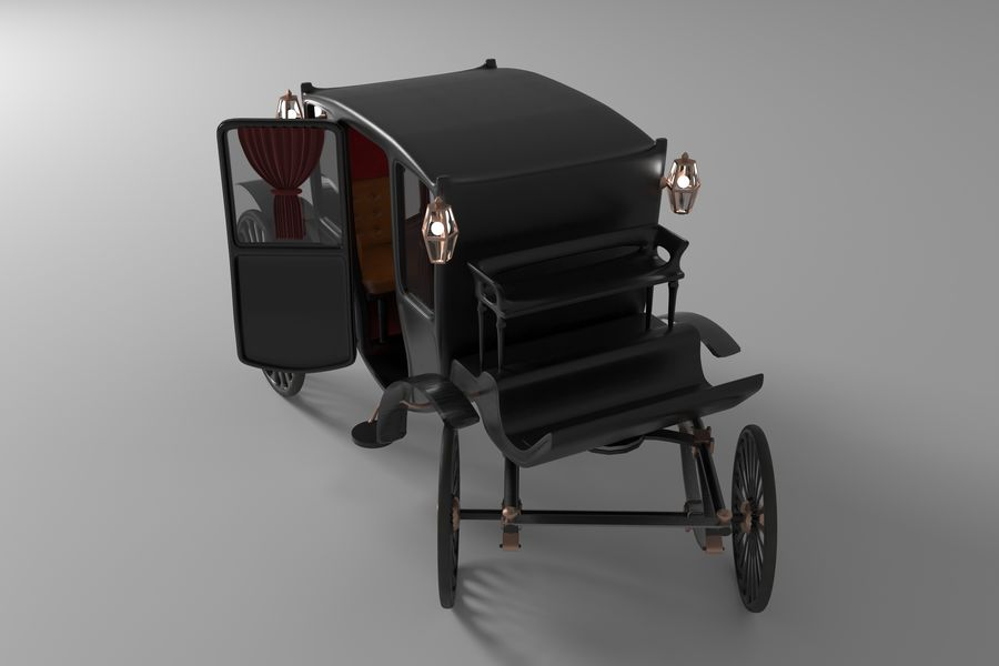 Voiture de luxe vintage royalty-free 3d model - Preview no. 5