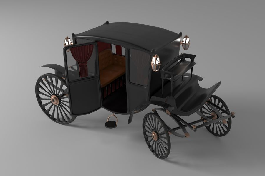 Voiture de luxe vintage royalty-free 3d model - Preview no. 6
