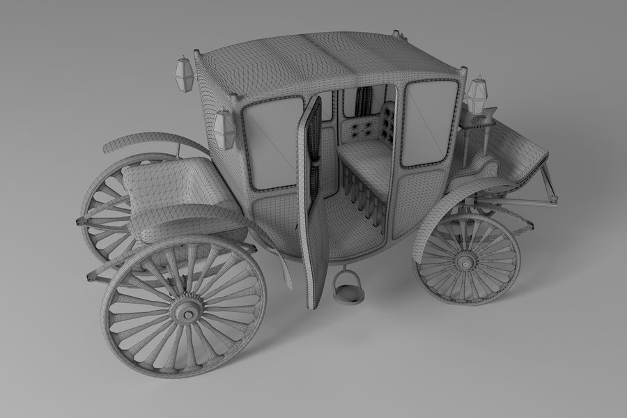 Voiture de luxe vintage royalty-free 3d model - Preview no. 16