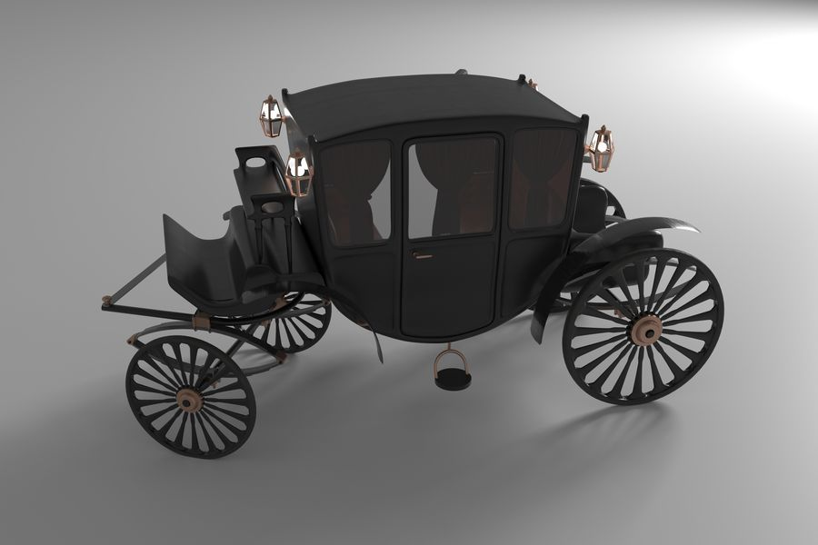 Voiture de luxe vintage royalty-free 3d model - Preview no. 3
