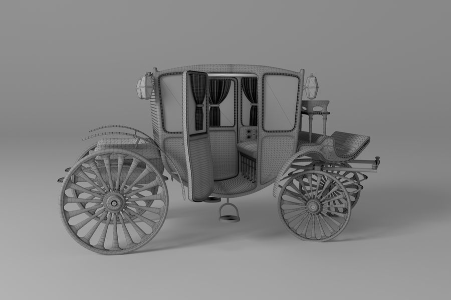 Voiture de luxe vintage royalty-free 3d model - Preview no. 18