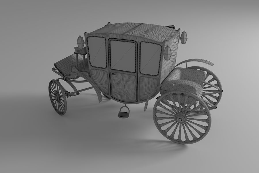 Voiture de luxe vintage royalty-free 3d model - Preview no. 11