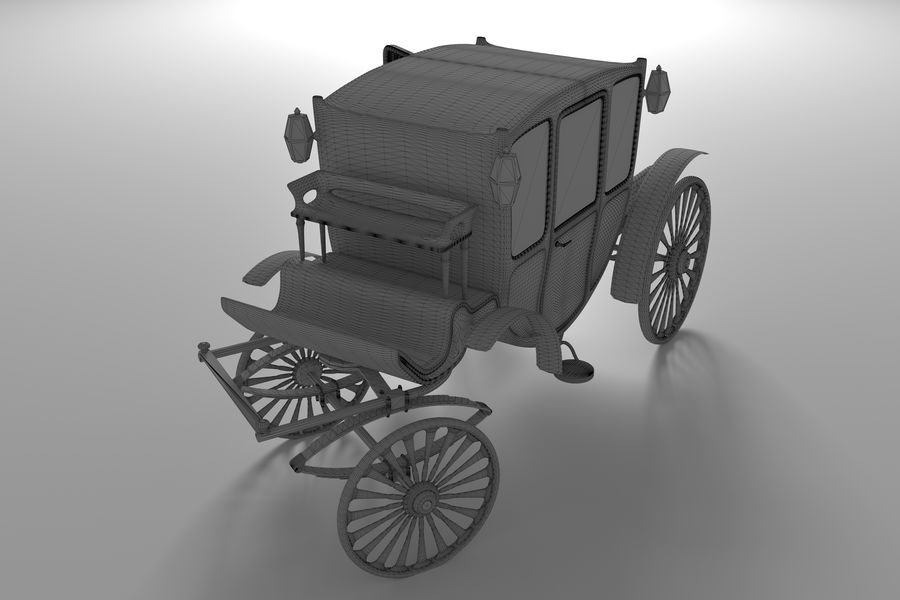 Voiture de luxe vintage royalty-free 3d model - Preview no. 13