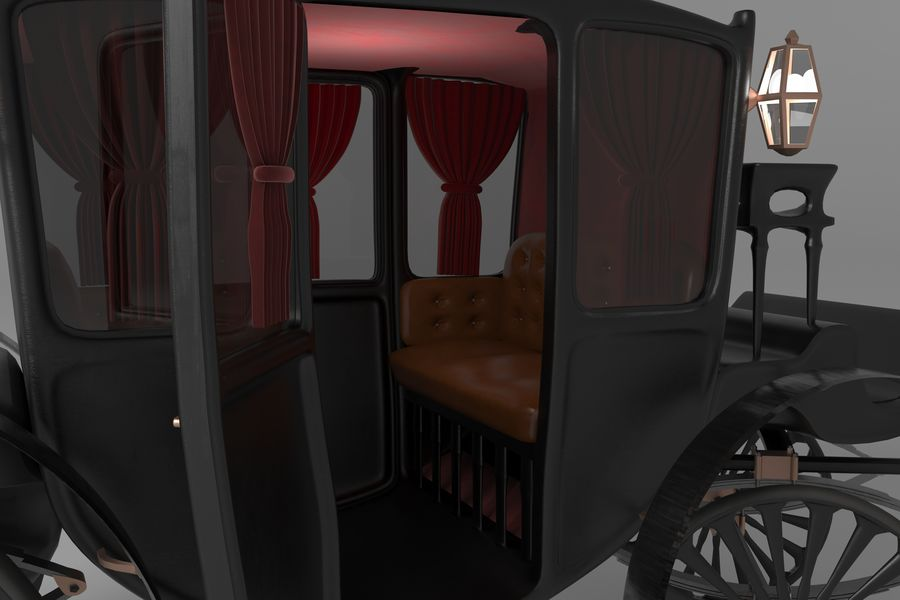 Voiture de luxe vintage royalty-free 3d model - Preview no. 10