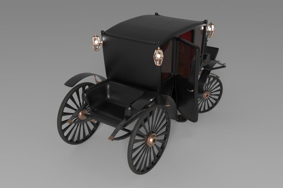 Voiture de luxe vintage royalty-free 3d model - Preview no. 7