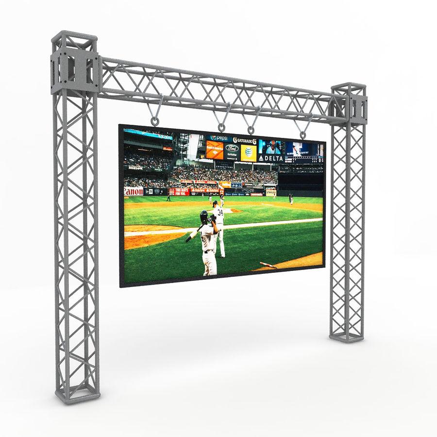 écran d'échafaudage LED royalty-free 3d model - Preview no. 1