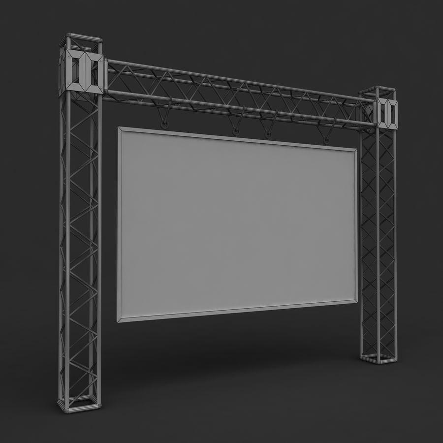 écran d'échafaudage LED royalty-free 3d model - Preview no. 5