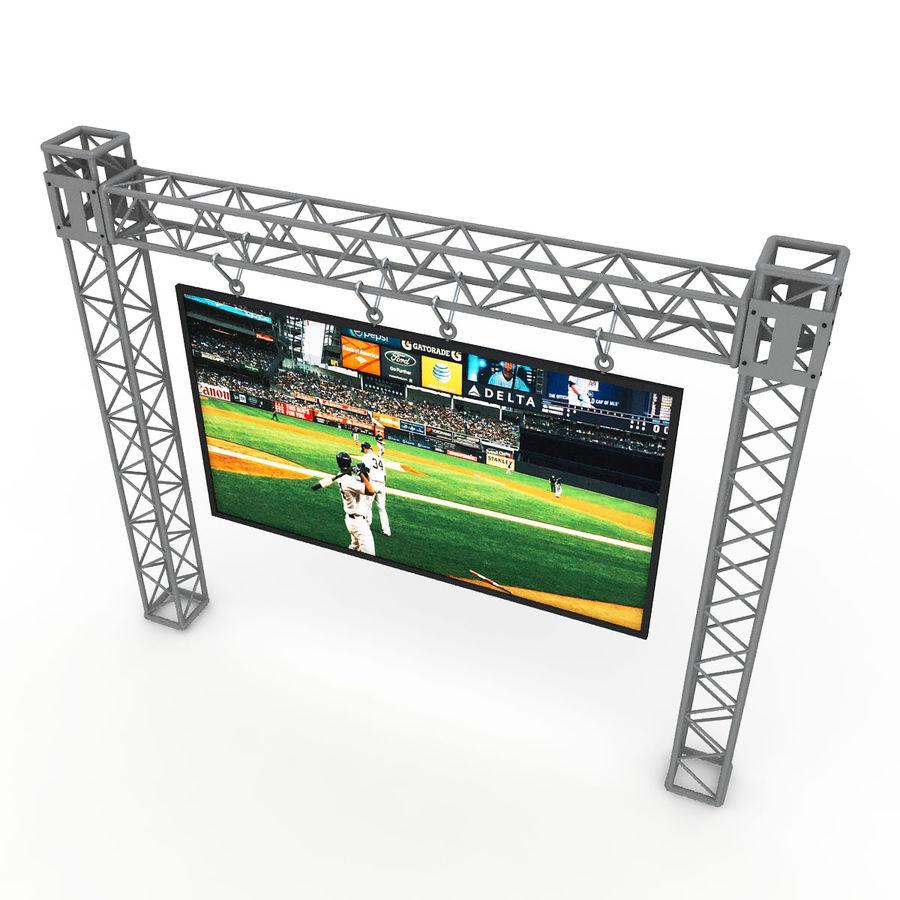 écran d'échafaudage LED royalty-free 3d model - Preview no. 3