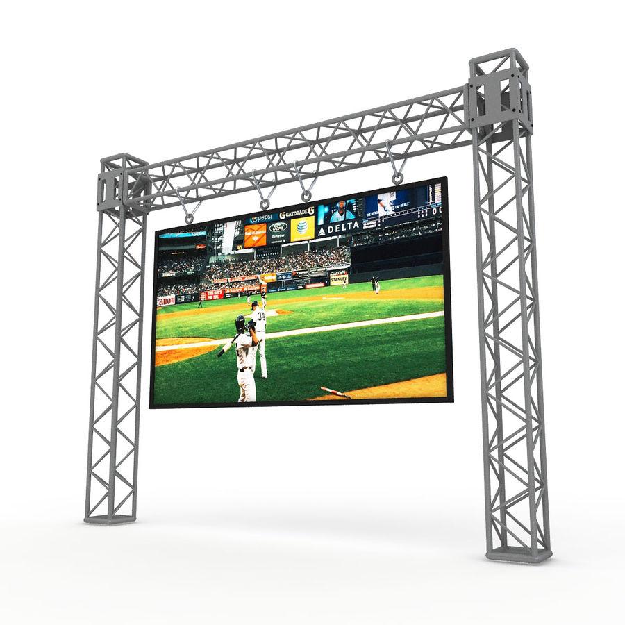 écran d'échafaudage LED royalty-free 3d model - Preview no. 2