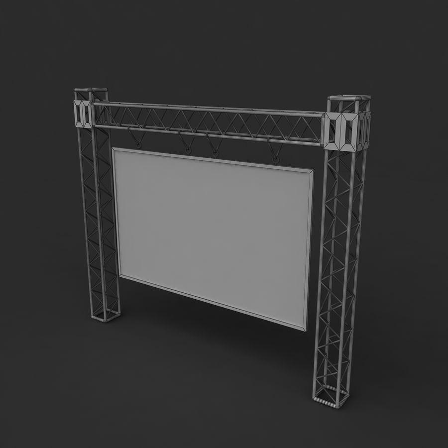 écran d'échafaudage LED royalty-free 3d model - Preview no. 4