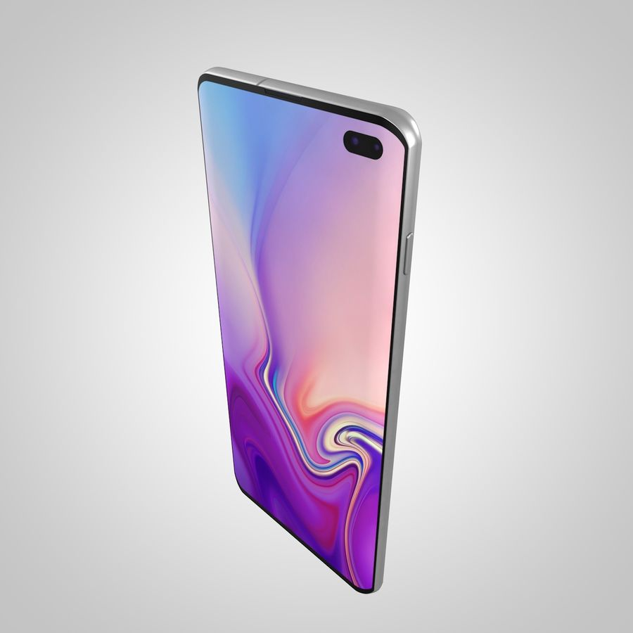 Samsung Galaxy S10 Plus royalty-free 3d model - Preview no. 6