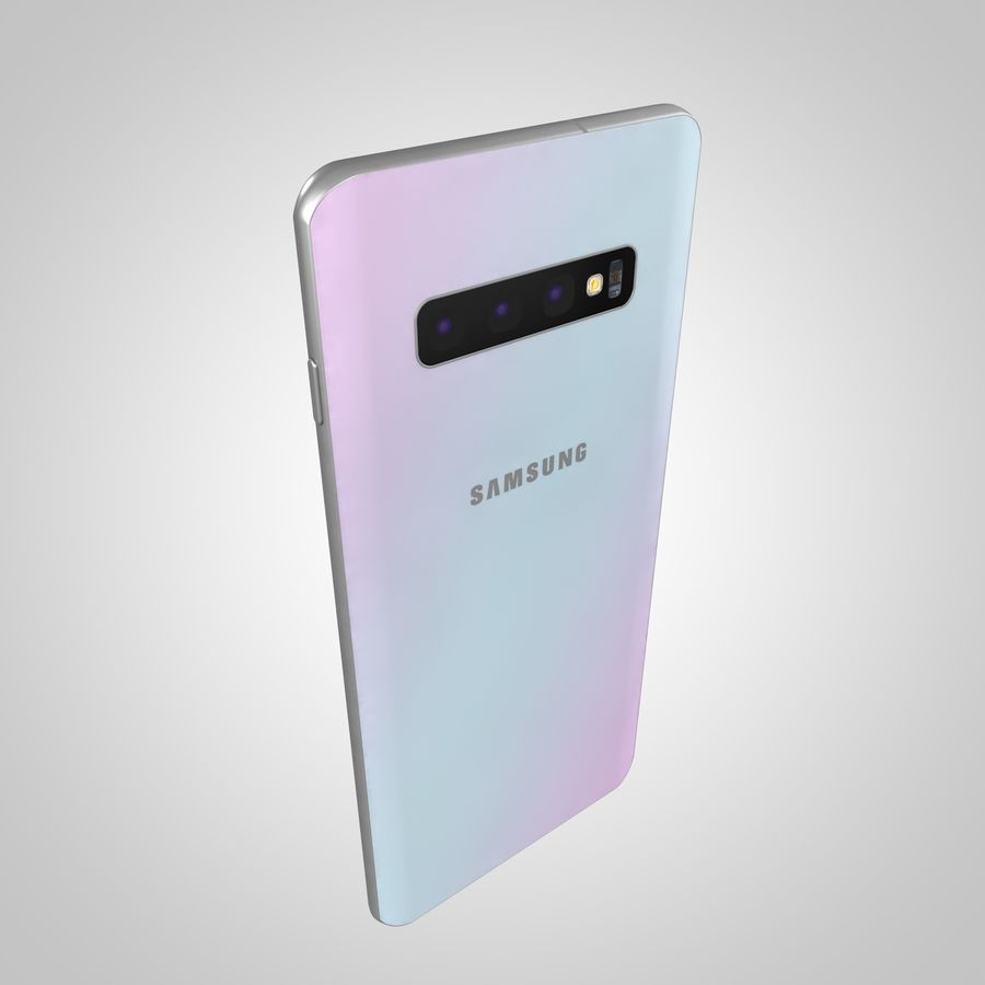 Samsung Galaxy S10 Plus royalty-free 3d model - Preview no. 7