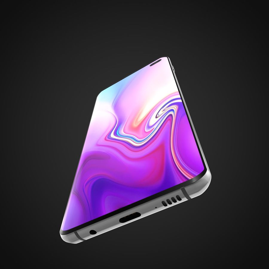 Samsung Galaxy S10 Plus royalty-free 3d model - Preview no. 5