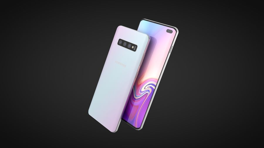 Samsung Galaxy S10 Plus royalty-free 3d model - Preview no. 1