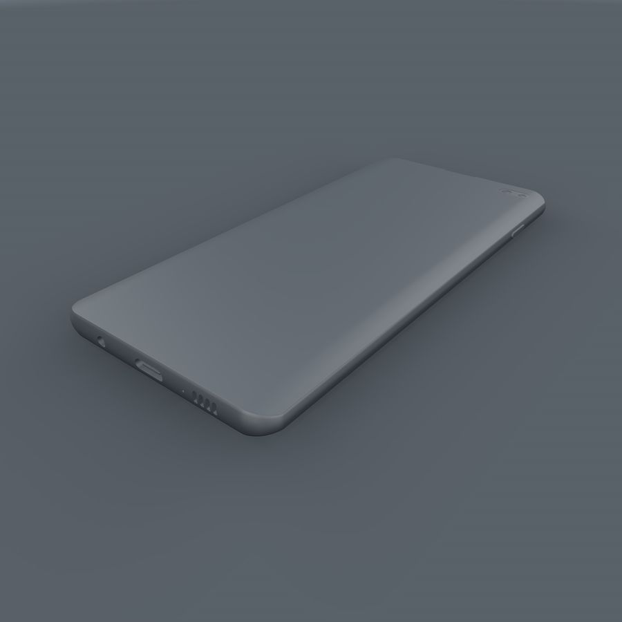 Samsung Galaxy S10 Plus royalty-free 3d model - Preview no. 14