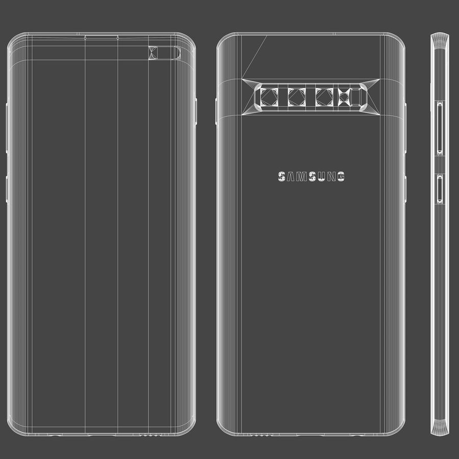 Samsung Galaxy S10 Plus royalty-free 3d model - Preview no. 15