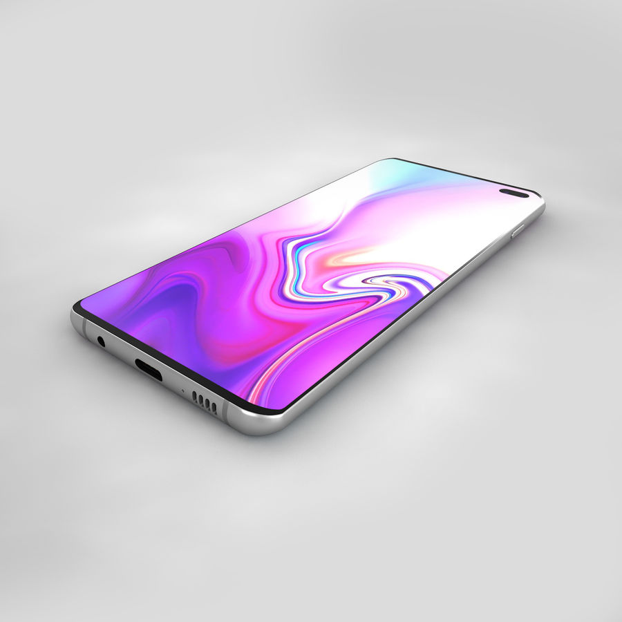Samsung Galaxy S10 Plus royalty-free 3d model - Preview no. 12