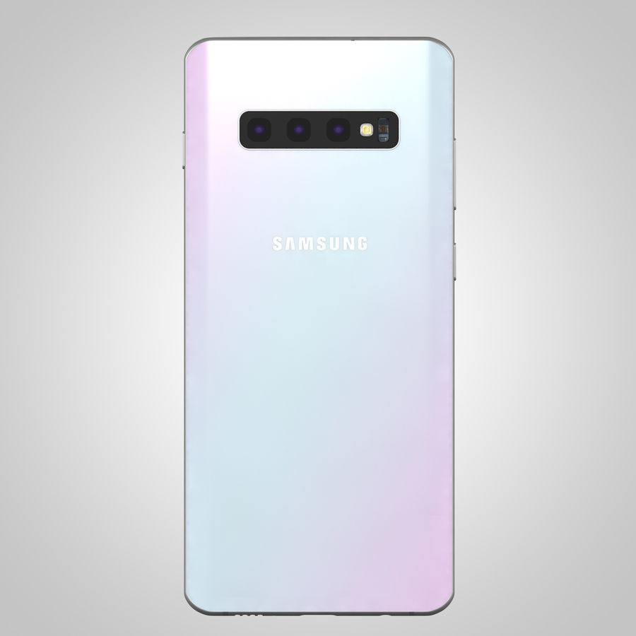 Samsung Galaxy S10 Plus royalty-free 3d model - Preview no. 11