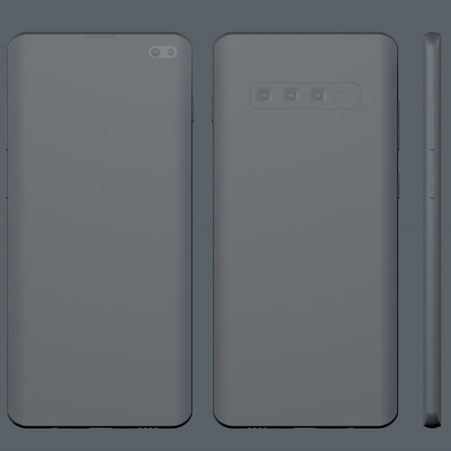 Samsung Galaxy S10 Plus royalty-free 3d model - Preview no. 13