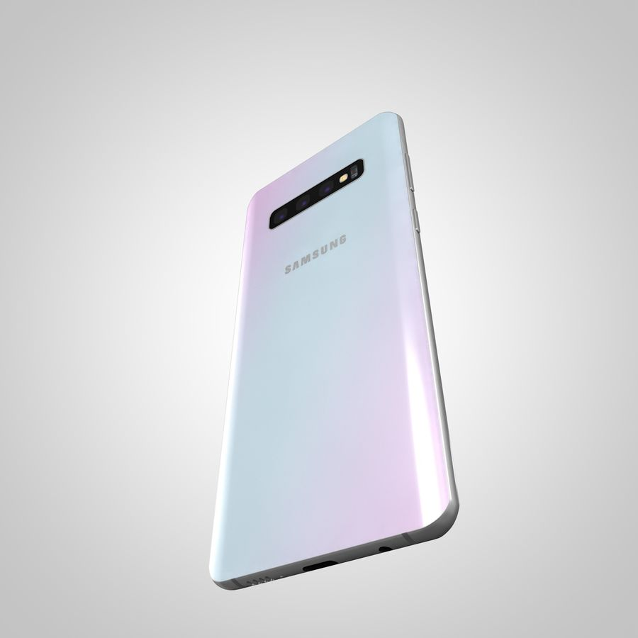 Samsung Galaxy S10 Plus royalty-free 3d model - Preview no. 8