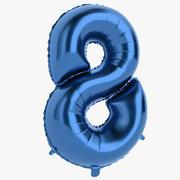 Foil Balloon Digit Eight Blue 3d model