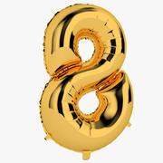 Balon foliowy Ósemka złota 3d model