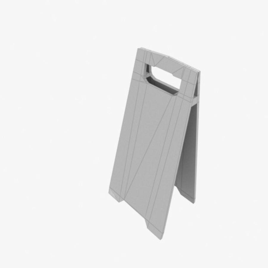 Cuidado piso molhado royalty-free 3d model - Preview no. 5