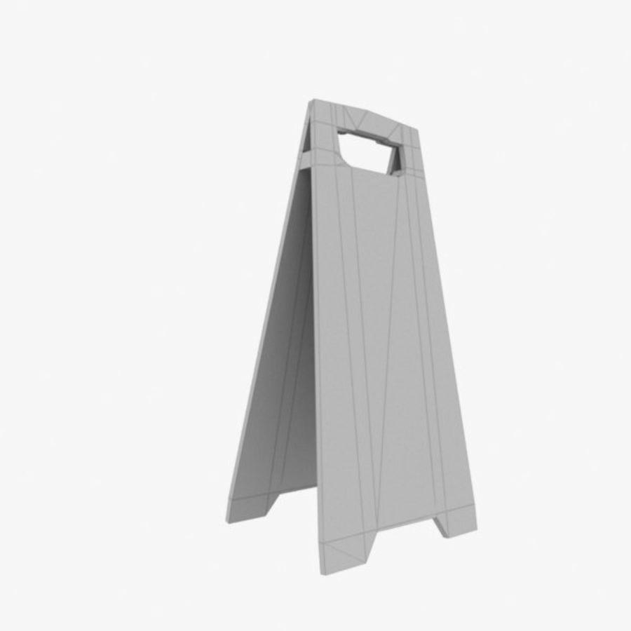 Cuidado piso molhado royalty-free 3d model - Preview no. 4