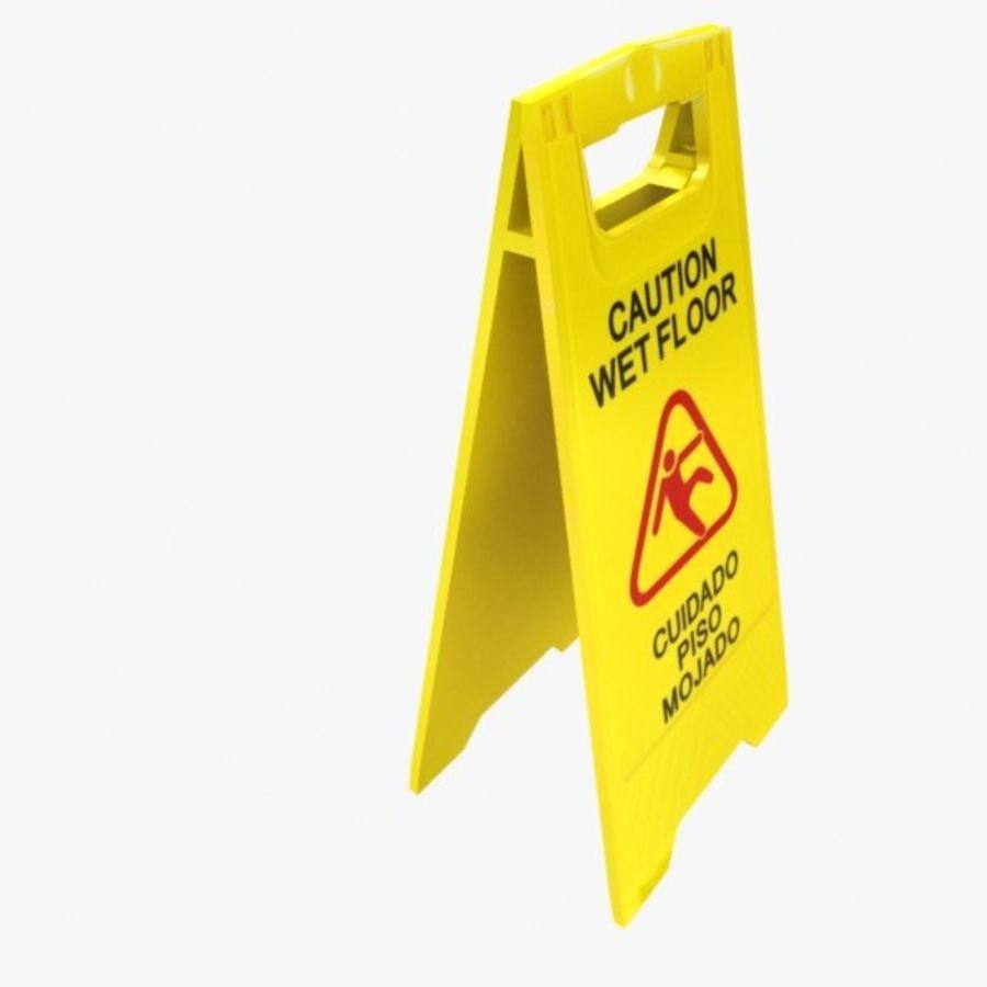 Cuidado piso molhado royalty-free 3d model - Preview no. 2