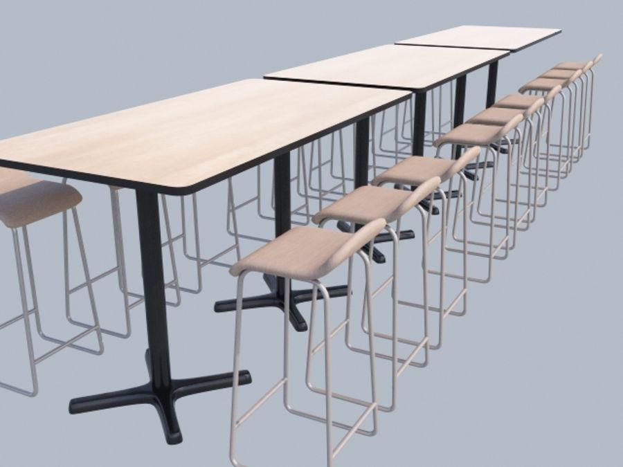 Högt bord med barstol royalty-free 3d model - Preview no. 1