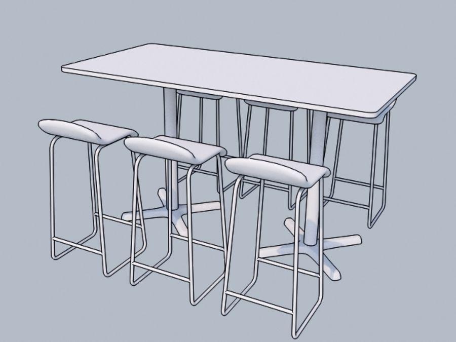 Högt bord med barstol royalty-free 3d model - Preview no. 5