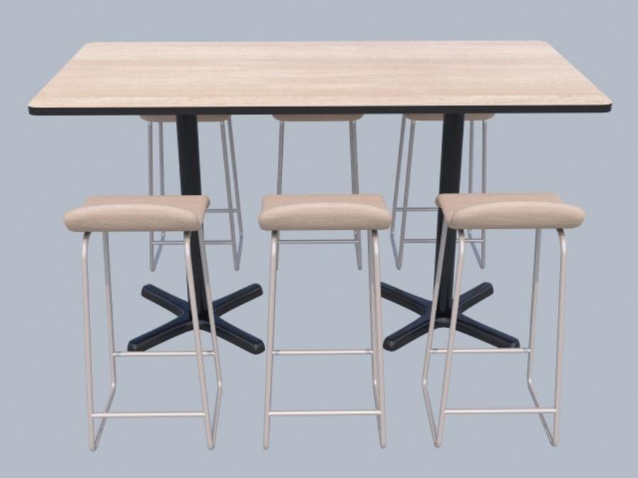Högt bord med barstol royalty-free 3d model - Preview no. 3