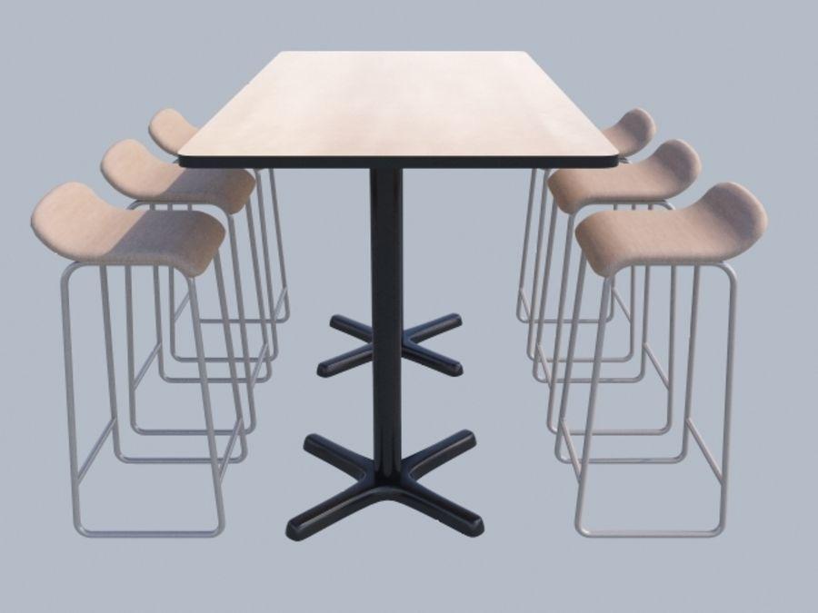 Högt bord med barstol royalty-free 3d model - Preview no. 2