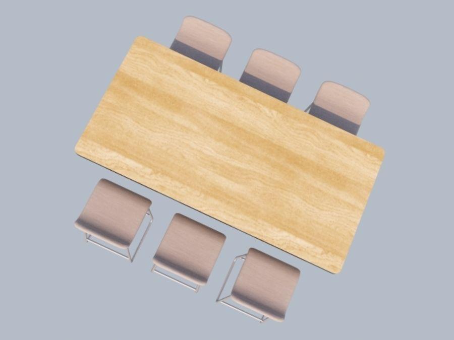 Högt bord med barstol royalty-free 3d model - Preview no. 4