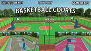 Campo da basket - Lowpoly - GameReady 3d model