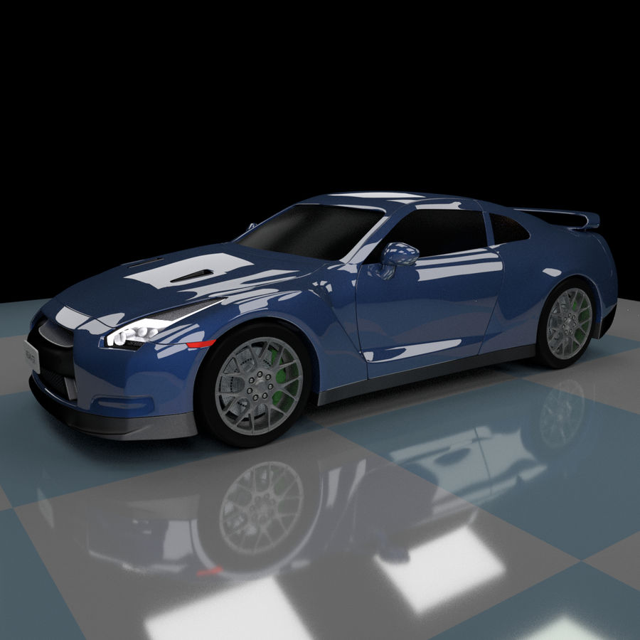 Nissan GTR royalty-free 3d model - Preview no. 2