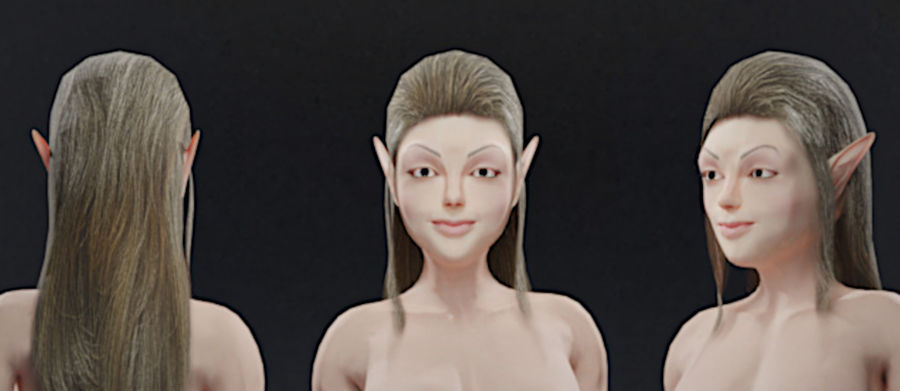 Modelka Elfka royalty-free 3d model - Preview no. 1