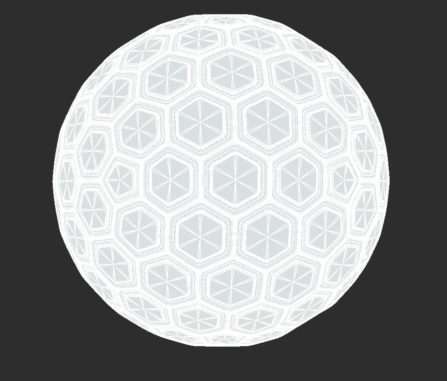 Научно-фантастическая Гекса Сфера (1) royalty-free 3d model - Preview no. 5
