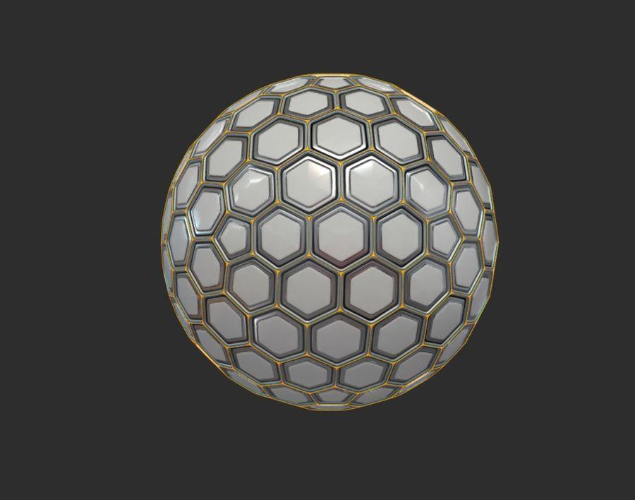Научно-фантастическая Гекса Сфера (1) royalty-free 3d model - Preview no. 4