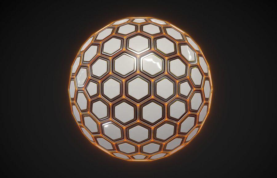 Научно-фантастическая Гекса Сфера (1) royalty-free 3d model - Preview no. 1