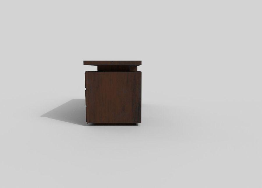 사무용 책상 royalty-free 3d model - Preview no. 6