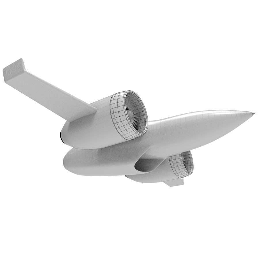 Concept aircraft royalty-free 3d model - Preview no. 6