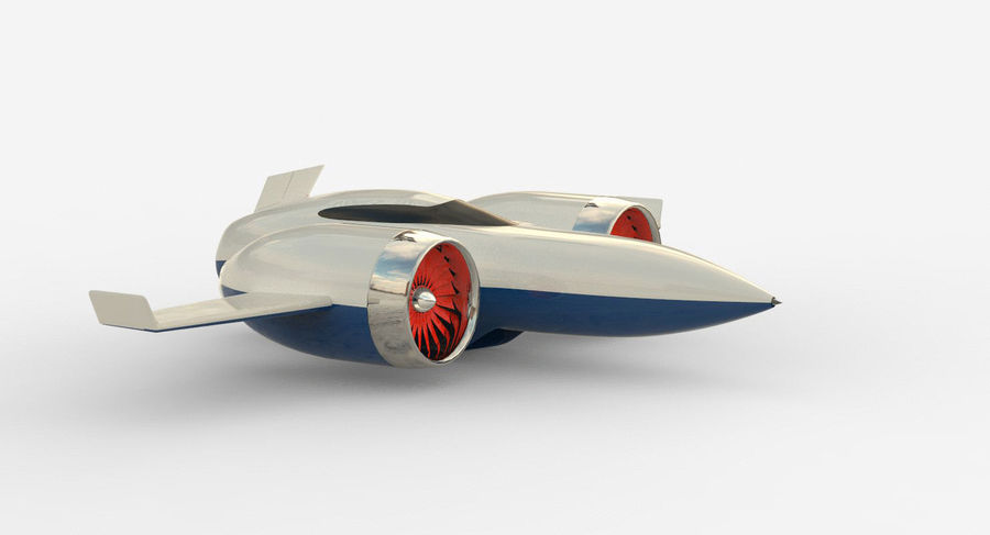 Concept aircraft royalty-free 3d model - Preview no. 2