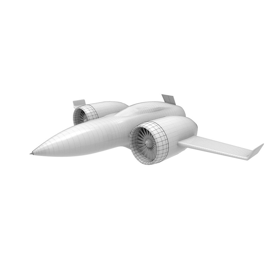 Concept aircraft royalty-free 3d model - Preview no. 3