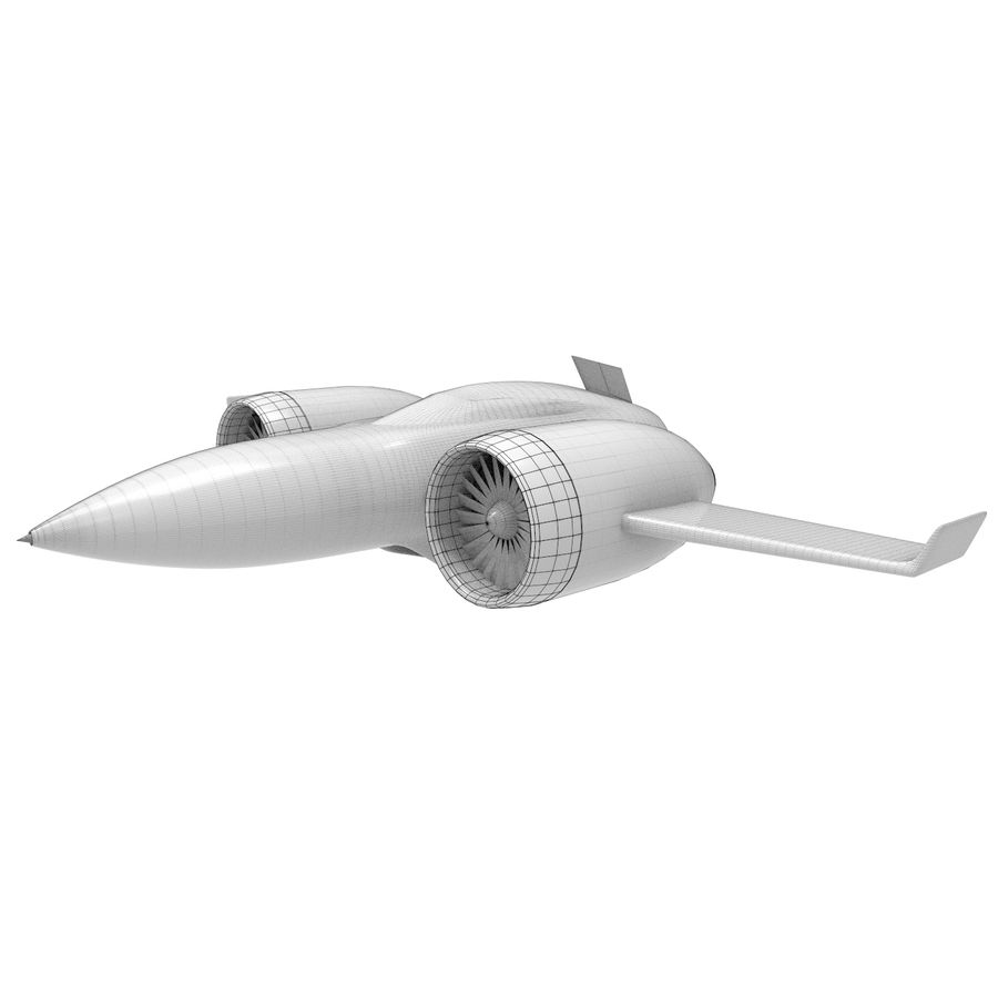 Concept aircraft royalty-free 3d model - Preview no. 7
