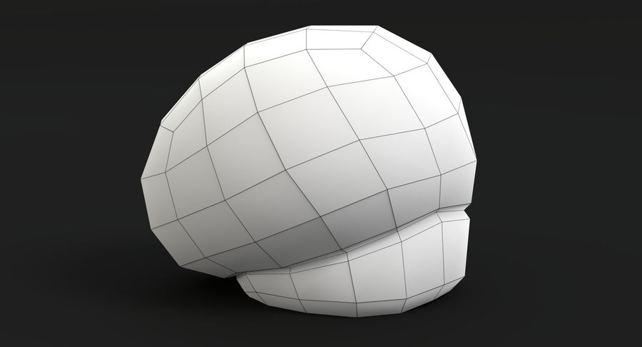 Puffball-paddestoel royalty-free 3d model - Preview no. 11