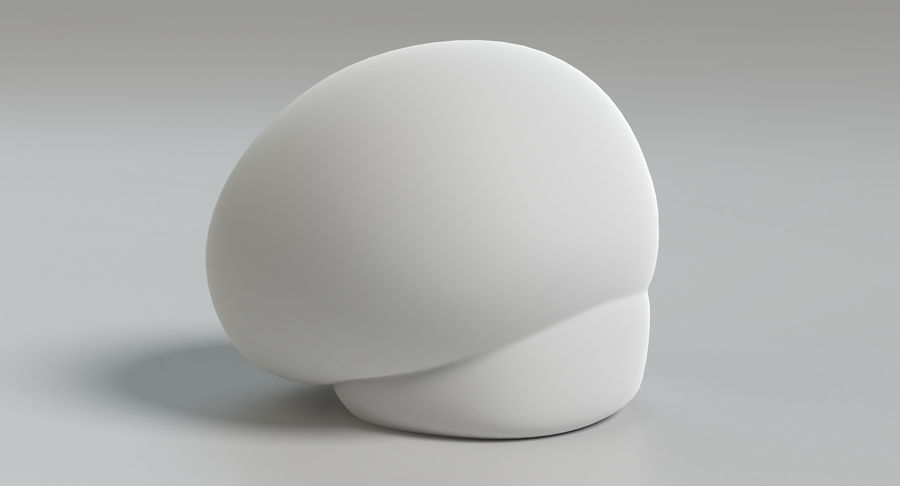 Puffball-Pilz royalty-free 3d model - Preview no. 10